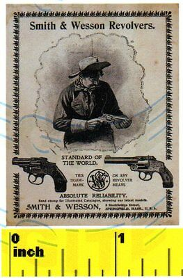 DOLLSHOUSE  Mini Fun CDHM  1:12 SMITH /& WESSON REVOLVER GUN Poster Print
