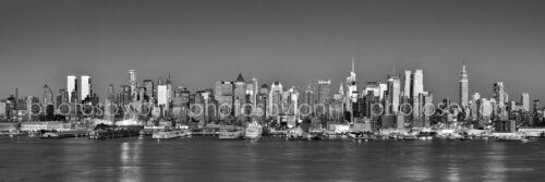 BW New York City NYC Midtown Skyline Panoramic Photo Print Poster 12x36 BIG