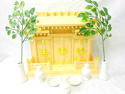 KAMIDANA Japanese Shinto Shrine miniature god shelf 10 pcs set 3 doors type si
