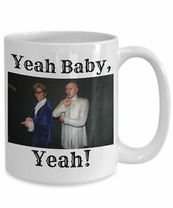 mike meyers mug yeah baby yeah 15oz white ceramic austin powers