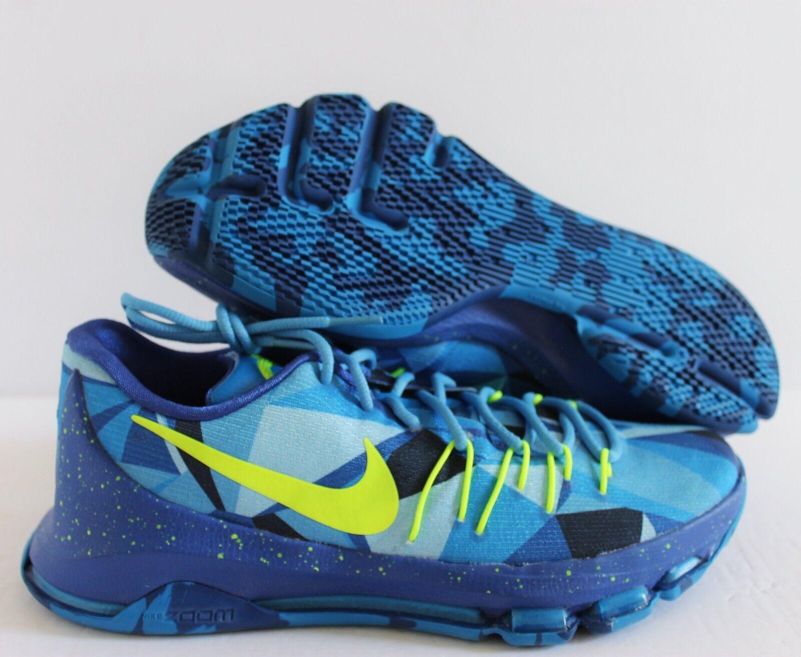 Nike KD 8 VIII Kevin Durant bluee-Black-Lime SZ 9.5