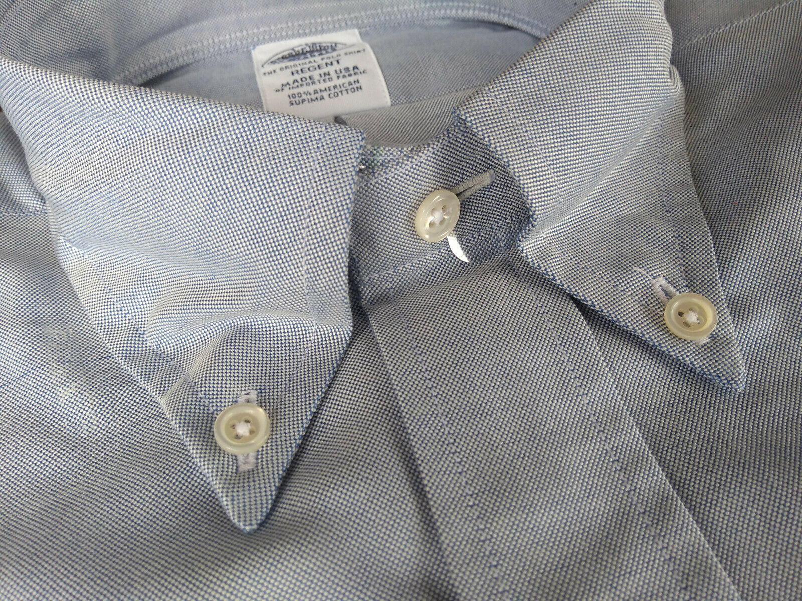 NWOT Brooks Brothers Blau Supima Oxford Button Down 14.5-31 Regent Fit MSRP  140