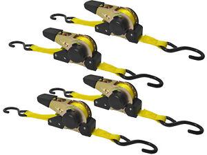 4-x-Spanngurt-Automatik-3-5m-25mm-320daN-Zurrgurt-Aufrollfunktion-S-Haken