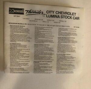 Monogram City Chevrolet Lumina Stock MODEL CAR INSTRUCTION SHEET #2917