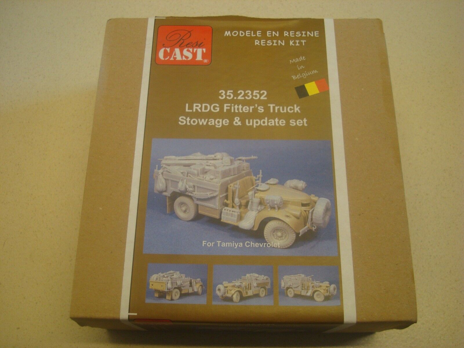 disponibile Resicast, nr 35.2352, LRDG Stowage Stowage Stowage & Update set, scala 1 35  autentico