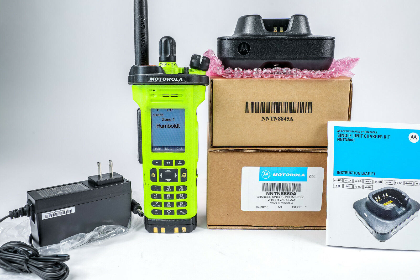 Motorola APX7000XE  700-800 / UHF2(5) Algo's w/charger antenna battery *Loaded. Buy it now for 2499.99