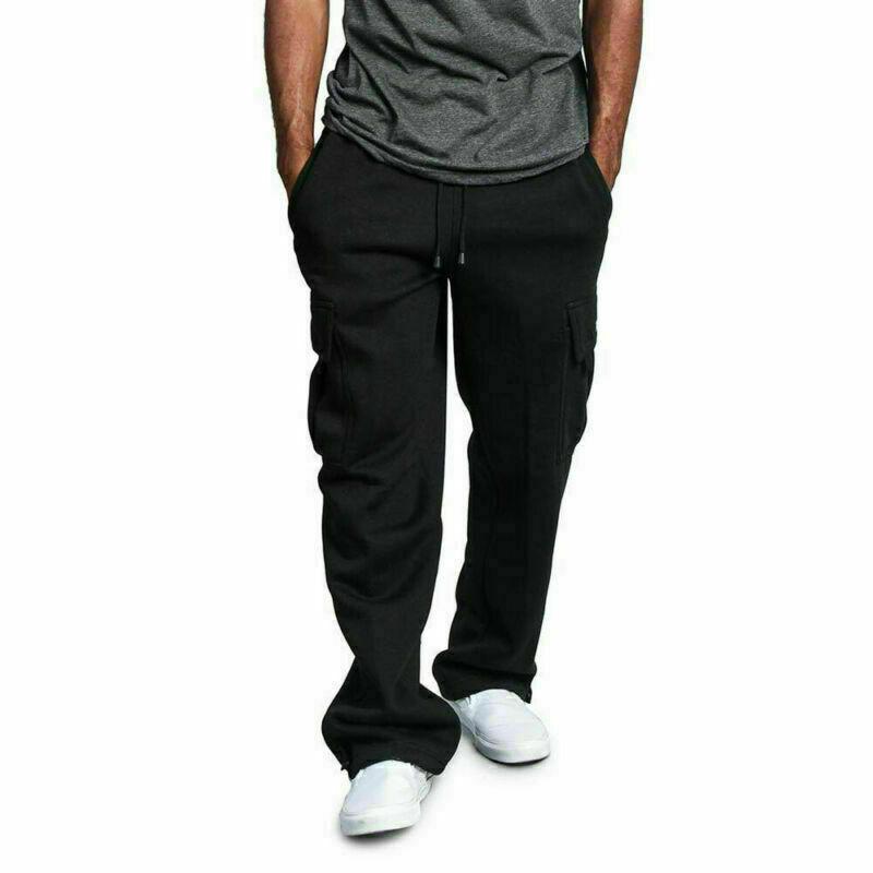 Details about  /Fashion USA Men/'s Jogger Heavy Weight Fleece Cargo Pocket Sweat Pants Fashion