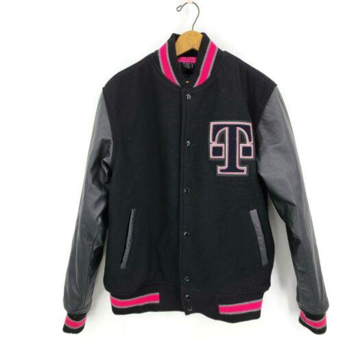 T Mobile Varsity Letterman Leather Jacket Mens M B