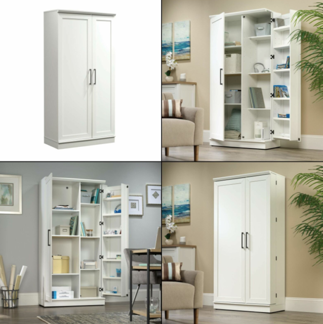 Storage Cabinet Cupboard Bath Living Room Large Tower Pantry