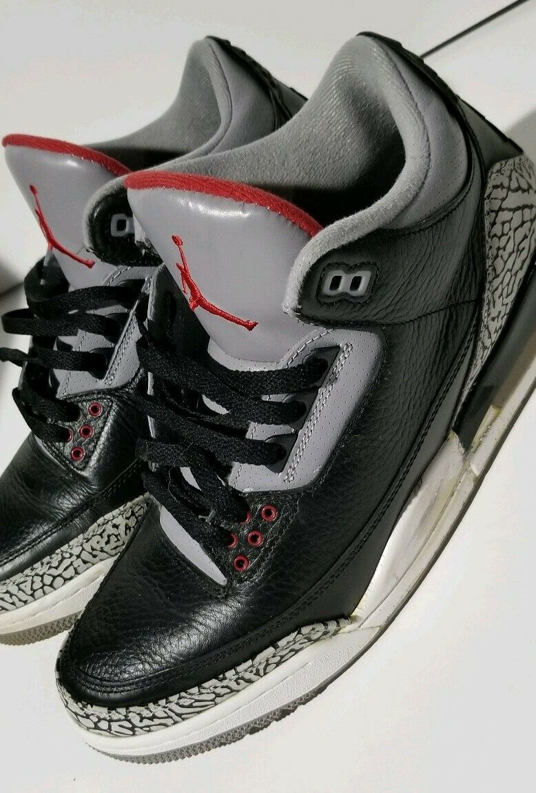 Cemento negro Jordan 3 III Air tamaño 12 2011 Retro