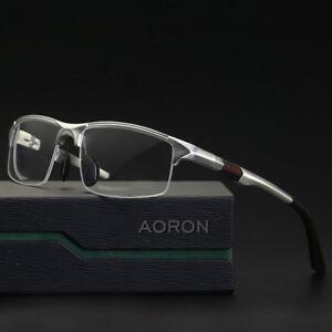 b96796e2c9e3 Image is loading NEW-Men-Sport-Aluminium-Eyeglass-Frames-Myopia-Glasses-