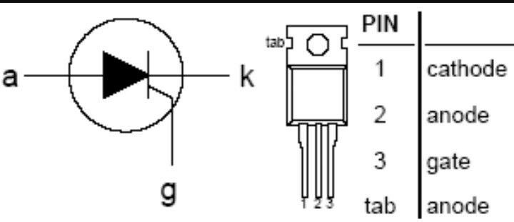 caso THT CDIL 8x bt151x-500 tiristor 500v 5,7a 9a 15ma embalaje