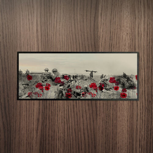 WW1 Montage Remembrance Day Bar Runner *DONATION TO POPPY APPEAL EVERY SALE*