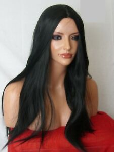 Black-Fashion-natural-Wig-Long-Straight-Women-Ladies-Halloween-Full-Hair-WIGS-O1