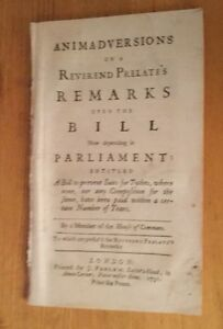 1731-Remarks-Upon-Bill-To-Prevent-Suits-Of-Tythes