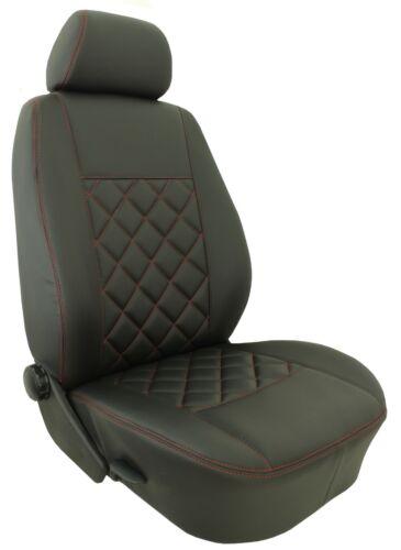 Sitzbezüge Kunstleder Rote Naht passend für VW T4 T5 T6 Transporter Caravelle