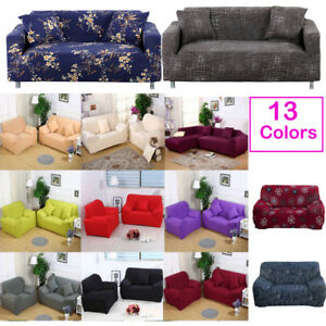 Details about 13 Colors Elastic 2 3 Seater Sofa Slipcover Couch Cover for L  Shape Corner Sofa
