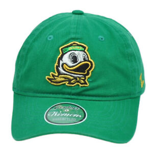NCAA-Zephyr-Oregon-Ducks-Mujeres-Damas-Verde-Relajado-Flexible-Gorro-Ajustable
