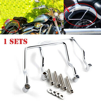 Universal Motorcycle Refit Saddlebag Support Bar Bracket For Harley Honda Suzuki