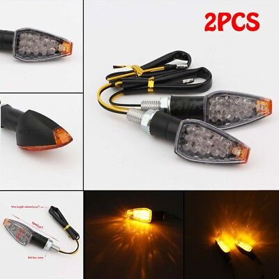 2PCS Motorcycle LED Turn Signals Light Fit Suzuki GS GSX GSXR 600 750 1000 1100