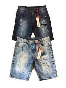 cc4a605185 NEW MEN S DESIGNER STONE EDGE DENIM RIPPED PATCHED FUNKY JEAN SHORTS ...