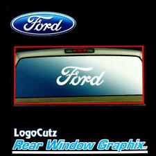 Big Ford Logo White Vinyl Decal Emblem Graphic Sticker for Car-Truck Rear Window