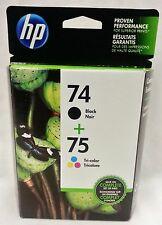 HP 74 Black 75 Tri-Color Ink Cartridges Combo Pack CC659FN EXP 2018
