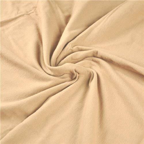 Flanell Meterware 1lfm 100/%Baumwolle 1,6m Kinderstoff weich Braun Hellbraun Uni