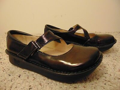 Women's Shoes 011 Black Waxy Women's Professional Mary Jane Size 39 Alegria Dayna Comfort Shoes