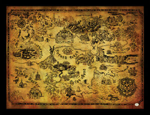 Maxi Size 36 x 24 Inch The Legend Of Zelda Breath Of The Wild Hyrule Map Poster
