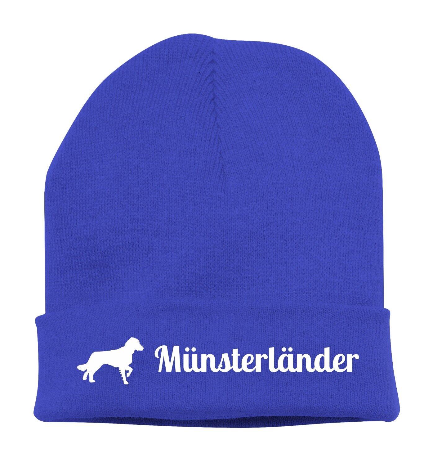 Beanie Knit Hat Cap Stick Motif Munster Countries Dogs siviwonder