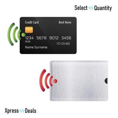 1 - 20 Rfid Blocco Manica Protettore Per Carta Di Credito Carta Di Credito Titolare Wallet Uk-mostra Il Titolo Originale