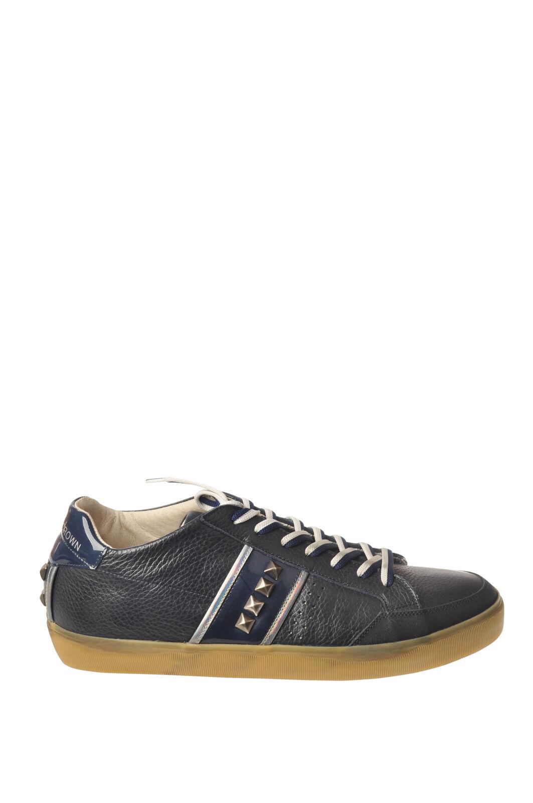 Leather Crown - Scarpe-scarpe da ginnastica basse - Uomo - Blu - 5857905A194400