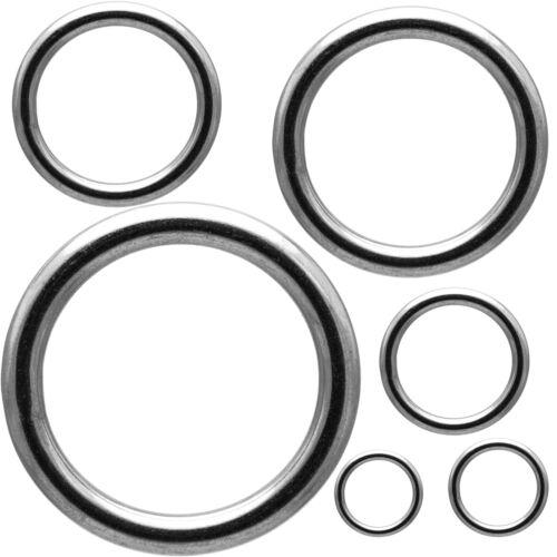O-Ring geschweißt Edelstahl Metallring Runde Eisenring Dichtring Öse Ringe A4