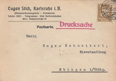 Eugen Stich Hüttenwerkserzeugnisse Fest In Der Struktur Rational Karlsruhe Postkarte 1925