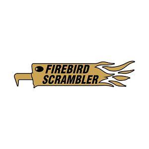 British FIREBIRD SCRAMBLER Gold motorcycle motorbike decal sticker emblem
