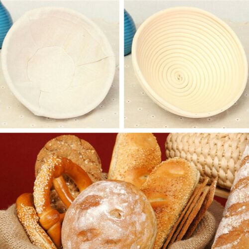 Round Dough Rising Rattan Bread Proofing Basket Bread Making Multi-Sizes NEW