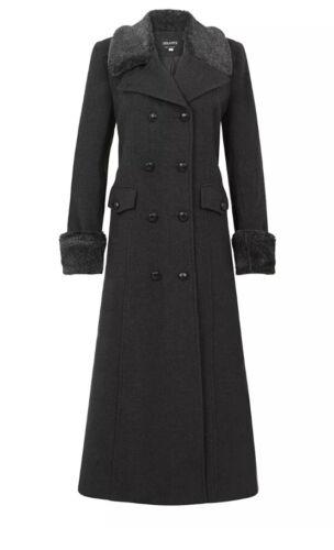 Women/'s Winter Warm Coat Jacket Ladies Wool Blend Double Breasted coat Faux fur