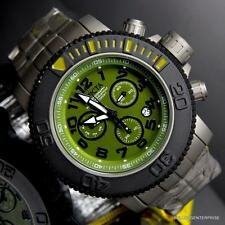 Invicta Sea Hunter 58mm Titanium Green Swiss Movement Chronograph Watch New