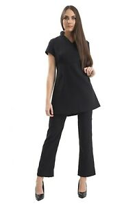 Ladies-Beautician-Spa-Tunic-Trousers-Uniform-Salon-Beauty-Therapist-Hairdressing