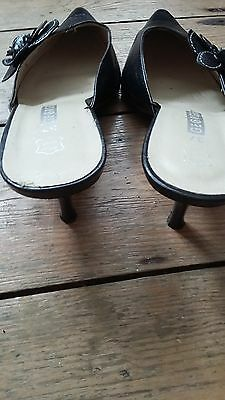 Zapatos De Cuero Negro UK 4 * 9