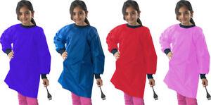 School Kids Uniform Painting Class Easy Wipe Clean Smock Apron Uk Seller