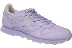 6ac572e94fb43e Reebok Classic Leather Metallic Kids Trainers Lavender Shoes 5 UK. About  this product. Stock photo  Picture 1 of 8  Picture 2 of 8  Picture 3 of 8.  6. Stock ...