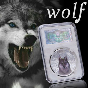 WR-Two-Dollars-Wolf-Silver-Commemorative-Coin-Elizabeth-Collectible-Gift