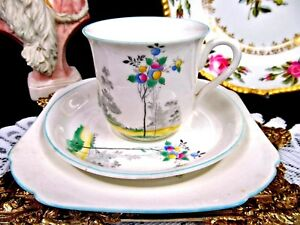 SHELLEY-TEA-CUP-AND-SAUCER-TRIO-PAINTED-TREE-amp-BIRD-PATTERN-TEACUP-D2114R