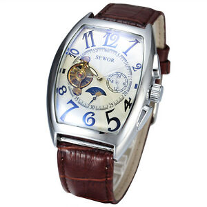 Sewor-Automatic-Tonneau-Fashion-Mens-Moon-Phase-Mechanical-gents-Wrist-watch-577