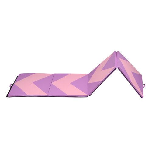 "4/'x10/'x2/"" Folding Gymnastic Mat Thick Gymnastics Tumbling Rose Red"