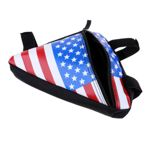 American Flag Bike Bag Cycling Top Tube Frame Bag Large Capacity Pouch Case