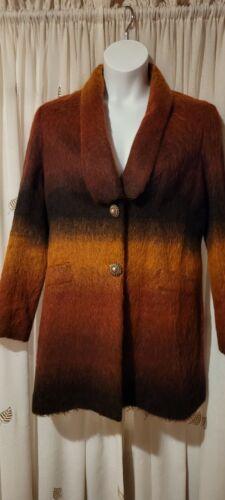 Womens Desiqual Multi Color Coat Sz 44