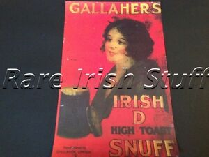 Gallaghers - Gallagher ) Irish Coleen/Cailin Snuff Old Advertising Print Poster